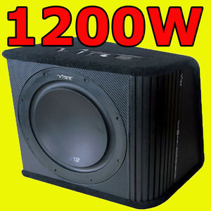 VIBE-12-Active-Car-Sub-Box-Subwoofer-Wiring-Kit-And-Amplifier-Amp-1200W