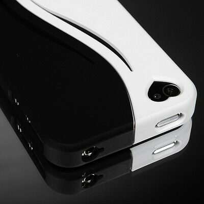 Pen+Black Rugged Slim Matte Hard Case Cover For iPhone 4 4S w/ Screen Film SMT