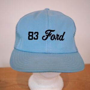 Vintage 80s 83 FORD Trucks Logo Mesh Snapback Trucker Cap Hat One ... ec8952f092c6