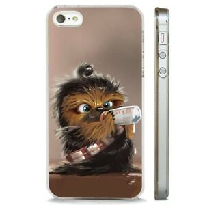 the latest 51c82 f007b Details about Chewbacca Baby Star Wars Wookie CLEAR PHONE CASE COVER fits  iPHONE 5 6 7 8 X