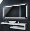 Badspiegel-mit-LED-Beleuchtung-Badezimmerspiegel-Spiegel-nach-Mass-L71 Indexbild 1