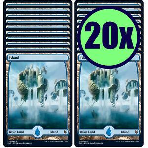20x ISLAND 270 Full Art Basic Land NM/LP MTG Magic the Gathering Zendikar Rising
