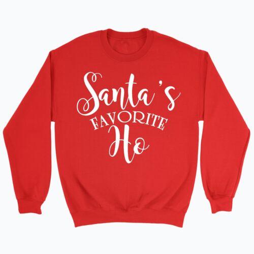 Santas Favourite Ho Christmas Jumper Novelty Funny Rude Santa Reindeer Xmas Gift