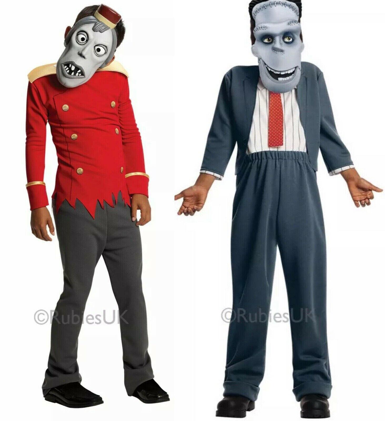 Kids Zombie Hotel Transylvania 2 Bell Hop Costume Halloween Fancy Dress Age 3-7