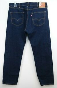 New Levi's Mens 550 0216 Dark Blue Relaxed Fit Straight ...
