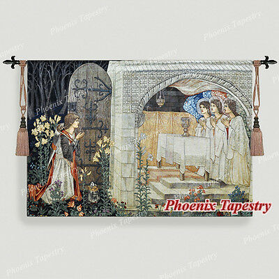 """William Morris Holy Grail Wall Tapestry - The Achievement II, 55""""x38"""", US"""