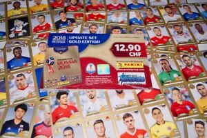 PANINI-Russia-2018-World-Cup-18-Swiss-Gold-Edition-92-Update-Stickers