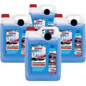 4x-SONAX-03325000-AntiFrost-amp-KlarSicht-gebrauchsfertig-bis-20-C-Frostschutz-5L