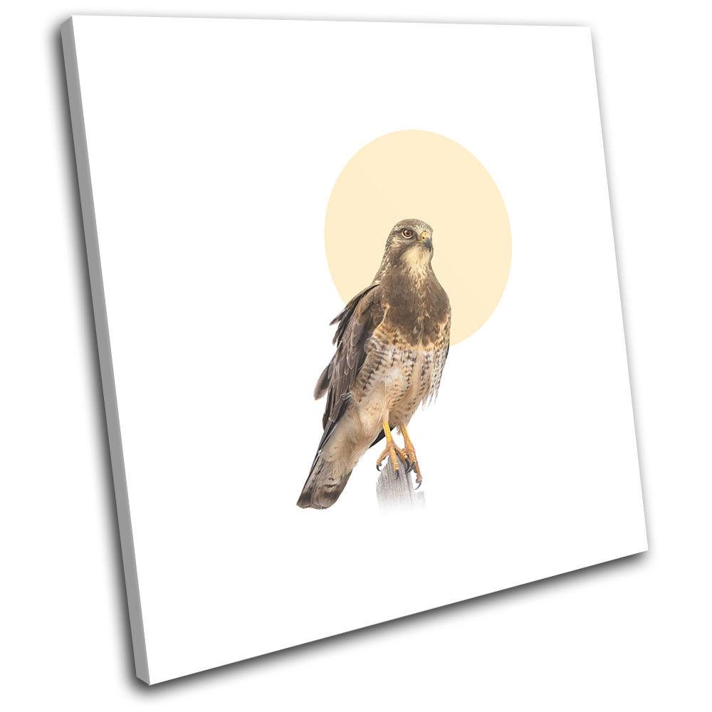 Falcon Bird of Prey Modern Animals SINGLE TOILE murale ART Photo Print