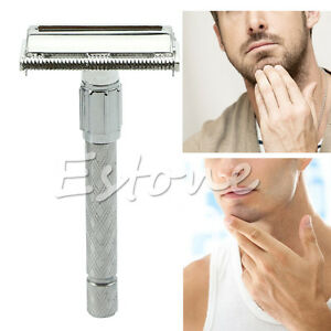 Mens-Traditional-Style-Safety-Double-Edge-Blade-Shave-Shaving-Hair-Razor-Hot