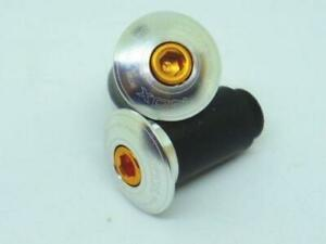 "XON Machined Bar end cap Handlebar plug  /""Silver/"" Road MTB City BIKE"