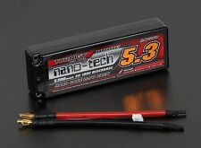 Turnigy nano-tech 5300mAh 2S 7.4 50-100c Battery Lipo Pack Hardcase ROAR