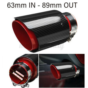 2-5-039-039-63mm-89mm-Carbon-Fiber-Car-Exhaust-Pipe-Tips-Muffler-End-Universal-Red