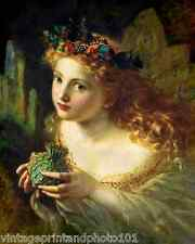 Portrait of a Fairy with Butterflies by Sophie Anderson  8x10 Art Print Girl 02