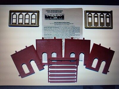 DPM Arched Entry Street Level HO Scale Building Kit #30101 Model Trains - New
