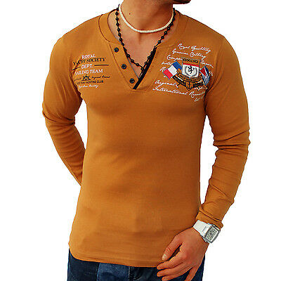 Sweat-Shirt Longsleeve Hemd Polo Sweatshirt Pullover Herren S M L XL XXL NEU
