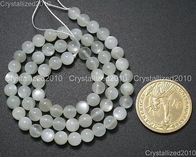 Natural White Moonstone Gemstone Round Loose Beads 4mm 6mm 8mm 10mm 12mm 15.5""
