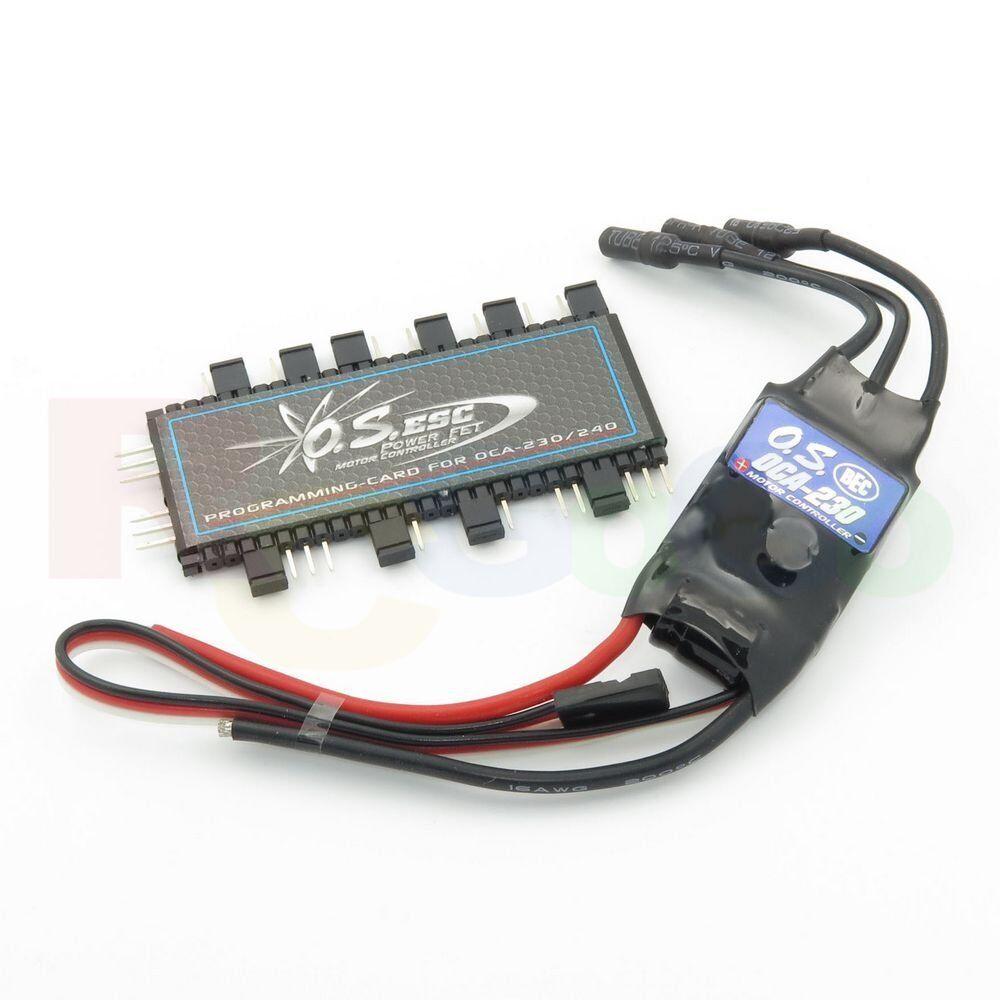 O.S. Engines OCA-230 30A 2-4S Li-Po Brushless ESC con programa tarjeta OS52020031