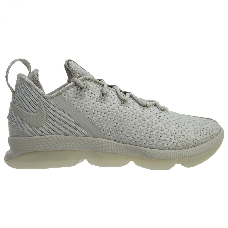 Nike Lebron XIV 14 Low Mens 878636-004 Ivory Bone Basketball Shoes Size 8