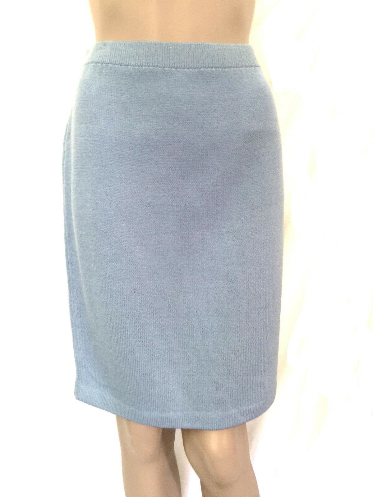 St. John Collection bluee Santana Knee Length Skirt - Size 6 - EUC