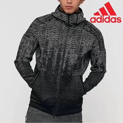 adidas HOODIE ZNE PULSE felpa uomo con cappuccio traspirante nera bianca BS4877 | eBay