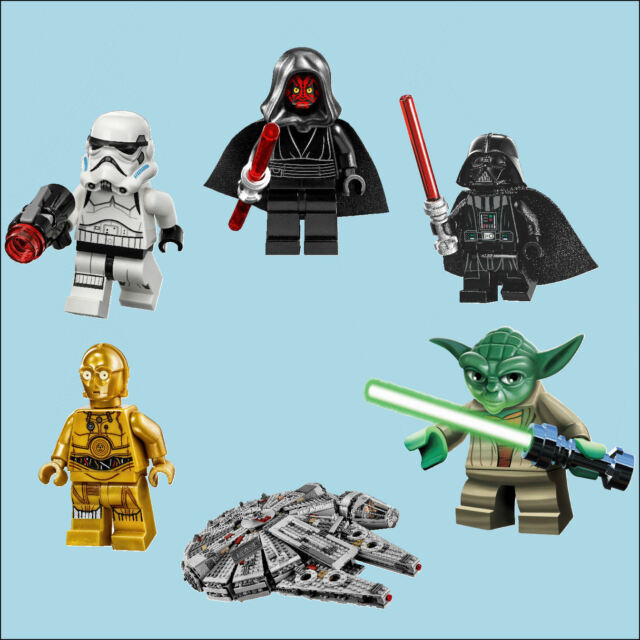 Star Wars Lego Men Stormtrooper Colour Wall Sticker Transfer Individual or All 6