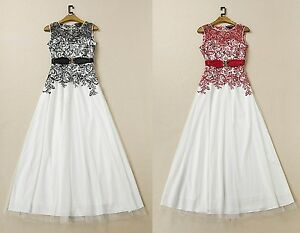 Vestito-Lungo-Cerimonia-Donna-Chiffon-Woman-Maxi-Dress-Embroidered-OB14567