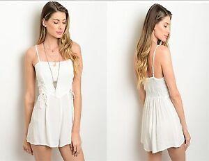 off white women summer romper jumper playsuit corset
