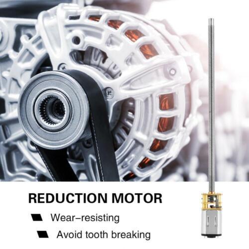 DC6//12V 30-600RPM N20 Electric Gear Box Reduction Motor Long Output Shaft M4 NEW