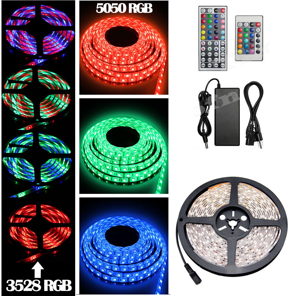 5M 10M 15M 50M 300 LED luz de tira 3528 5050 SMD RGB Cinta Rollo de Cinta Impermeable
