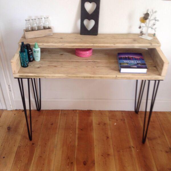 Tavolino Da Toeletta In Legno Rustico Coperta Ponteggio Board Pacchetto Elegante E Robusto