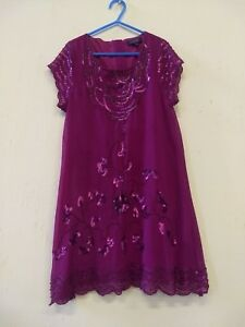 Ted-Baker-Girls-Cerise-Pink-Sequin-amp-Beaded-Party-Dress-Age-10