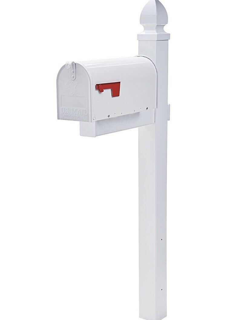 Mailbox Combo Large Mailbox And Stand Oversize Roadside Street Postal Box Steel