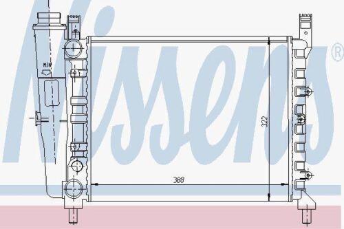 83- Nissens 61940 Radiator fit FIAT UNO