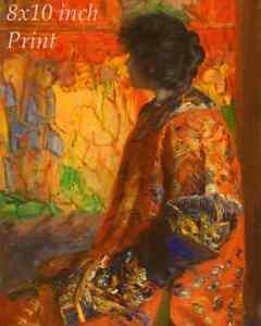 The Fair by Constant Wauters Art Market Stall Women Parasol 8x10 Print 0810