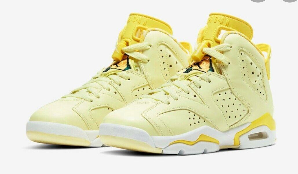 Nike Air Jordan 6 Retro GS Dynamic Yellow Citron Tint 543390-800 ...
