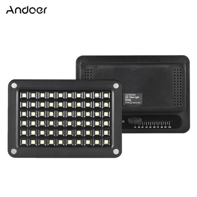 Andoer S9560 Mini LED Video Light Lamp Panel 95+ 5500K Color Temperature Z6I4