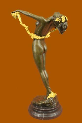 Bronze Jugendstil Akt signiert H.Frishmuth The Vine Bronzefigur Bronze Figurine
