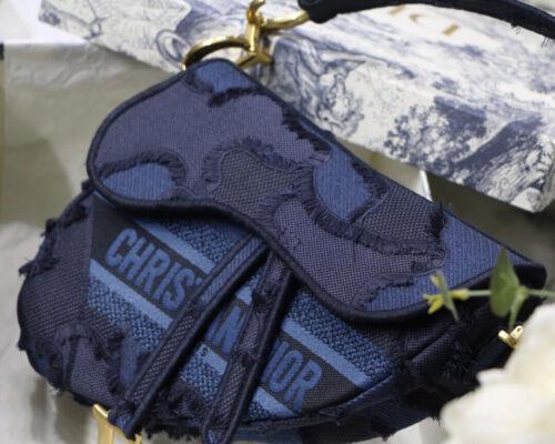Dior Mini Saddle Bag denim
