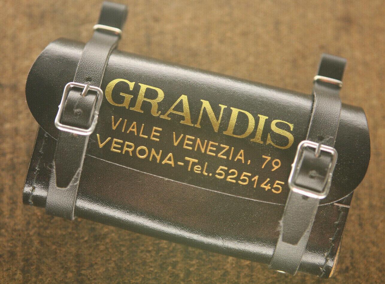 De colección Reedición Nuevo Grandis Verona Montura para Ciclismo Negro Cuero Bolsa De Herramientas Touring