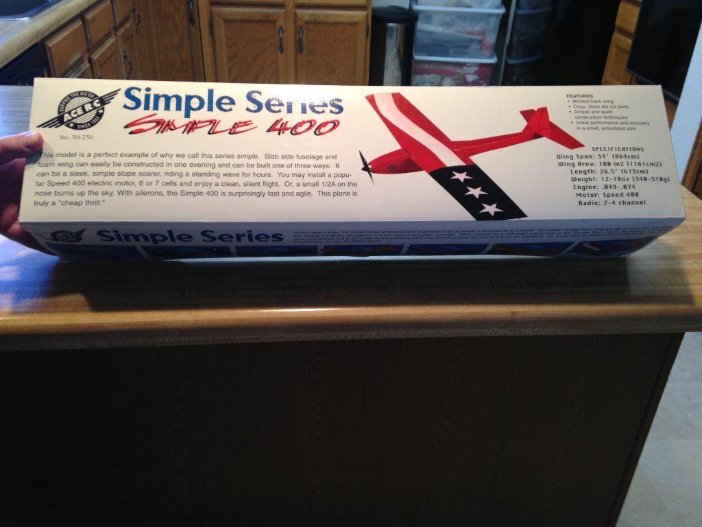 nuovo R C Ace Simple 400 Pylon Racer Style  Kit  - ½ A Engine Dimensione Plane  sconto