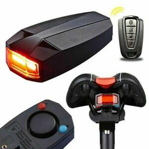 Luci-Posteriore-bici-da-bicicletta-USB-ricaricabile-LED-Allarme-Telecomando-Set