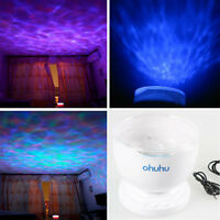 Ocean Wave Relax Projector LED Night Light Lamp MP3 Iphone Music Input speaker