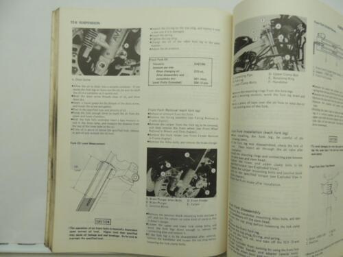 Kawasaki Motorcycle Service Manual GPZ500R GPZ600R L7070