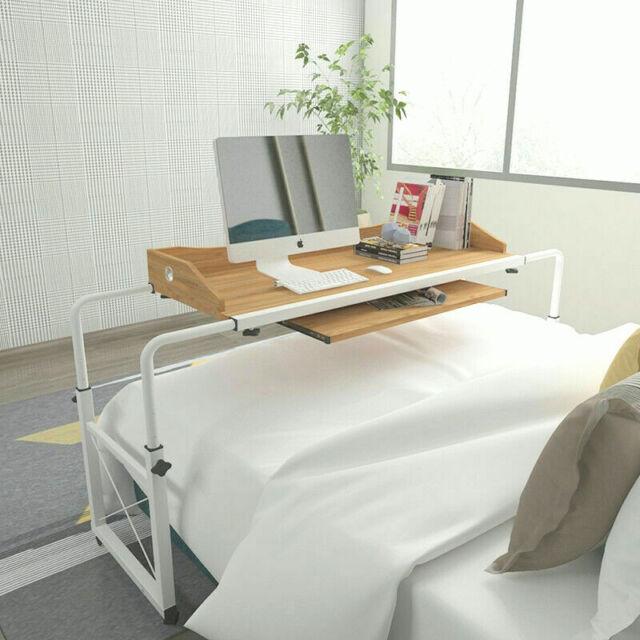 Adjustable Mobile Over Bed Table Computer Desk Laptop Cart Hospital Nursing  Home