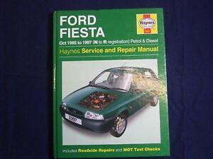 ford fiesta 1995 1997 petrol diesel haynes service workshop rh ebay co uk 1998 Ford Fiesta 2000 Ford Fiesta
