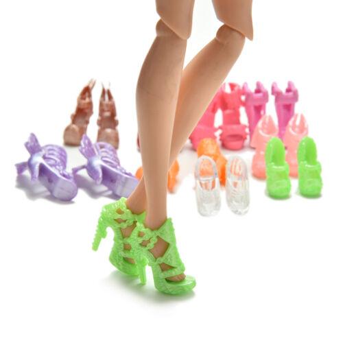 """ZP 20x 10 Pairs Mode Schuhe für 11 /"""" Puppen Feste Stile Farbe Random"""