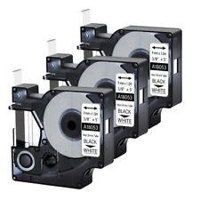 3pk For Dymo Rhino 42005200 Heat Shrink Tube 18053 Industry Label Tape 38x5
