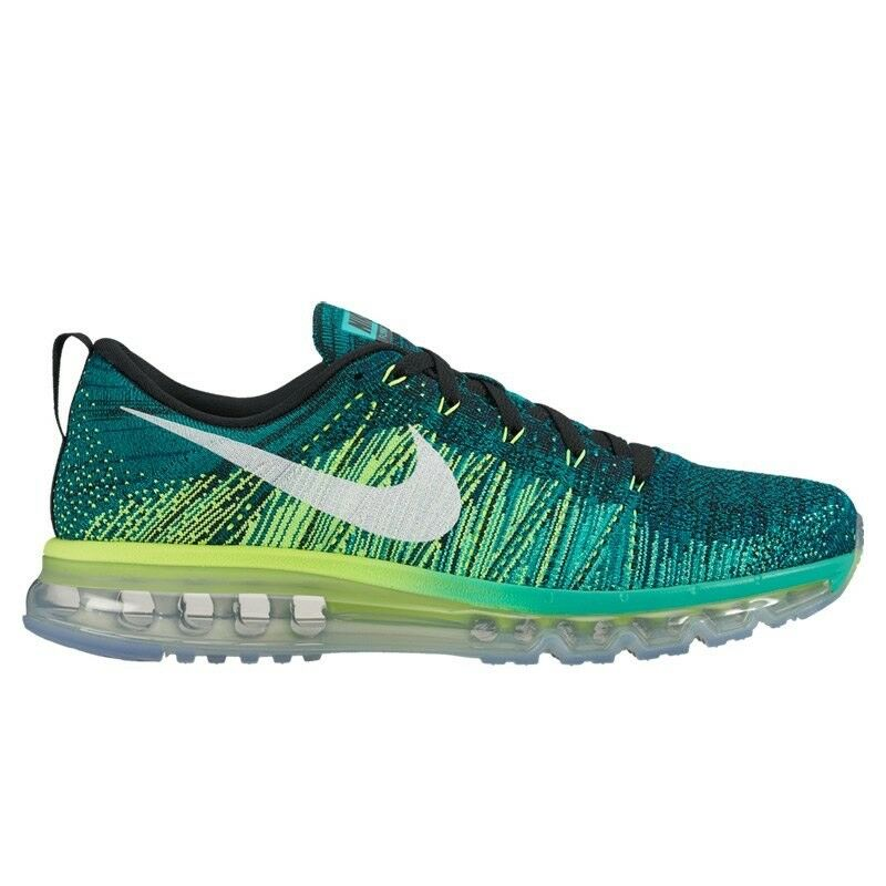 Nike Flyknit Max Clear Jade-Volt Black White (620469-013) Size 12.5