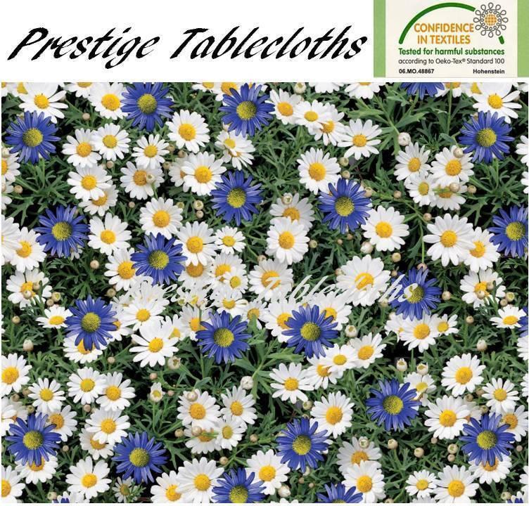 Daisies PVC Vinyl Wipe Clean Tablecloth - ALL GrößeS - Code  C69-2